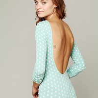 Free People Printed Low Back Cami