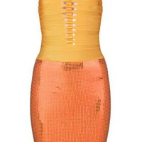 Bqueen Hollow Sequined Sexy Bandage Dress H478