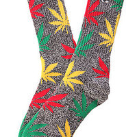 HUF The HUF x Snoop Plantlife Socks in Black Heather