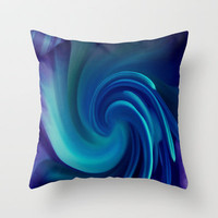 Tulip Twirl Abstract Throw Pillow by Ally Coxon