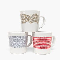 Poketo Graphic Pattern Mugs