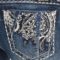 Miss Me Jeans, Bootcut Paisley-Embroidered Pocket - Miss Me Jeans - Women - Macy's