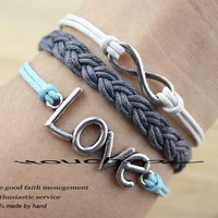 bracelet love bracelet infinity bracelet karma bracelet magic cute Three strings together gift for birthday ,wedding,etc-Q