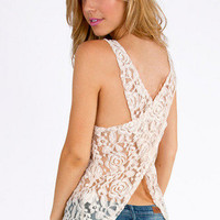Ladies in Lace Tank Top $26
