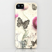 *** Vintage Butterfly  *** iPhone Case by Mnika  Strigel