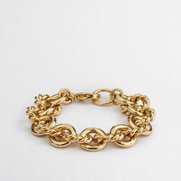 Factory gold-plated chainlink bracelet
