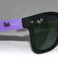 New Wayfarer Sunglasses Purple Black Matte New In Box New With Tag from Eye fashion