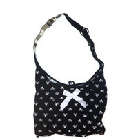 Black Skull Gray Camouflage Reversible Bow Purse