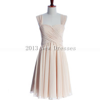 2013 Cheap Fashion with spaghetti straps Prom Evening Dresses Party Dresses