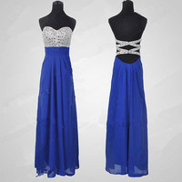 Cheap 2013 New Style Glamorous High quality beads Chiffon satin Prom Dresses