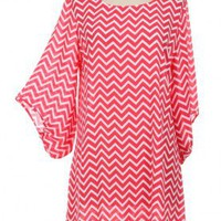 Strawberry Chevron Dress