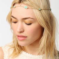 Druzy Crystal Goddess Chain Headwrap