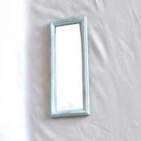 Shabby Chic Light Blue Distressed Rectangle Mirror