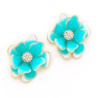 Kenneth Jay Lane Flower Post Earrings | SHOPBOP