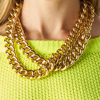 Double The Fun Chain Necklace