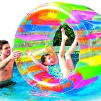 "Water Wheel - Giant Inflatable Swimming Pool Water Wheel Toy (49"" X 33""): Toys & Games"