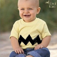 Infant Charlie Brown Shirt Costume size 12 months | Royalkane - Children's on ArtFire