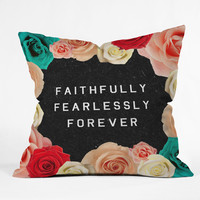 Wesley Bird &quot;Forever&quot; Throw Pillow