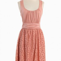 meeting before dark lace dress in peach at ShopRuche.com