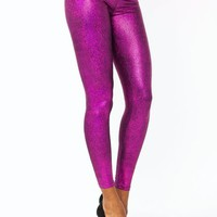 crackle-print-lame-leggings BRONZE FUCHSIA SLATE TURQUOISE - GoJane.com