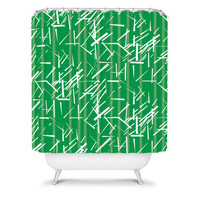 DENY Designs Home Accessories | Karen Harris Konstructivist Emerald Shower Curtain