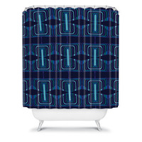 DENY Designs Home Accessories | Karen Harris Ziggurat Midnight Shower Curtain