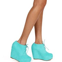 Mint Platform Booties