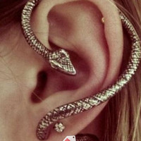(REGULAR EARRING) Snake Earring