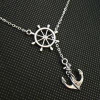 Anchor Necklace Nautical Necklace Beach Wedding Necklace Resort Jewelry - Sweet Anchor