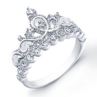 925 Sterling Silver Crown Ring / Princess Ring: Jewels Obsession: Jewelry