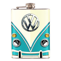 Liquor Hip Flask Stainless Steel Volkswagen Classic Van 8 oz (F-243)