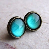 Handmade Gifts | Independent Design | Vintage Goods Absinthe Stud Earrings - Stud-Style Earrings - Earrings - Jewelry - Girls