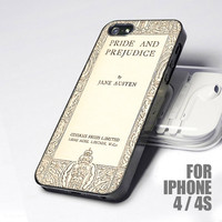 CDp 0110 Book Cover Jane Austen Pride And Prejudice - Design for iPhone 4 or 4s case
