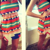 Colorful Aztec Dress