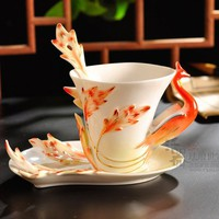 Dragon and Phoenix Coffee Cup set - 2 pieces from House Beauty