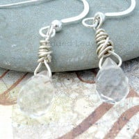 Pineapple Quartz sterling silver wire wrapped Earrings