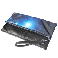 Ghoul Nebula Leather Clutch, Zip Pouch