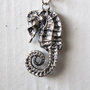 seahorse charm // sterling silver
