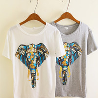amazinglife — Unique Design Elephant Print Tshirt