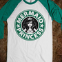 Mermaid Princess Coffee - Once Upon A Time - Skreened T-shirts, Organic Shirts, Hoodies, Kids Tees, Baby One-Pieces and Tote Bags