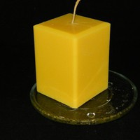 Tropical Coconut and Tangy Lemon Scented Square Pillar Candle