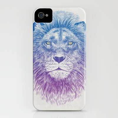 Face of a Lion iPhone Case by Rachel Caldwell | Society6