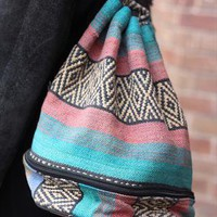 Canvas Aztec Print Duffle Bag from HoyBoutique
