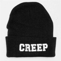 CREEP Cuffed Knit Beanie Cap Black - One Size