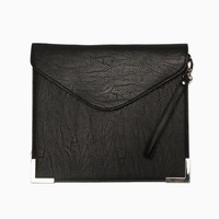 Purple Label - Beatrix Metal Trim Envelope Clutch (Black)