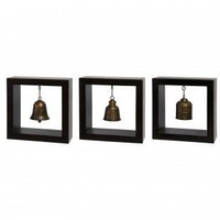 IMAX 3 Piece Framed Bell Set - 1375-3 - All Wall Art - Wall Art & Coverings - Decor