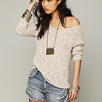 Free People  Lace Back Oversized Pullover at Free People Clothing Boutique