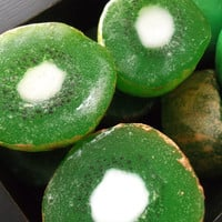Kiwi Fruit Soap  green & white with speckled by Scentcosmetics