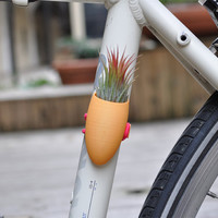 Sunshine Yellow Bike Planter