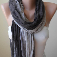 Beige and Light Brown - Soft - Cotton Scarf
